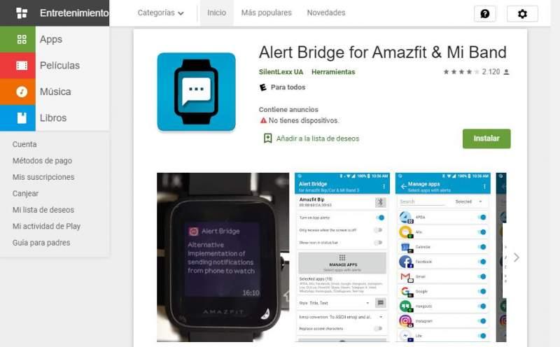 Alert Bridge Xiaomi Mi Band