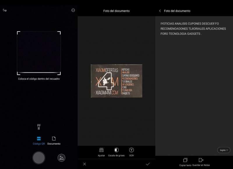 Escaner Xiaomi app