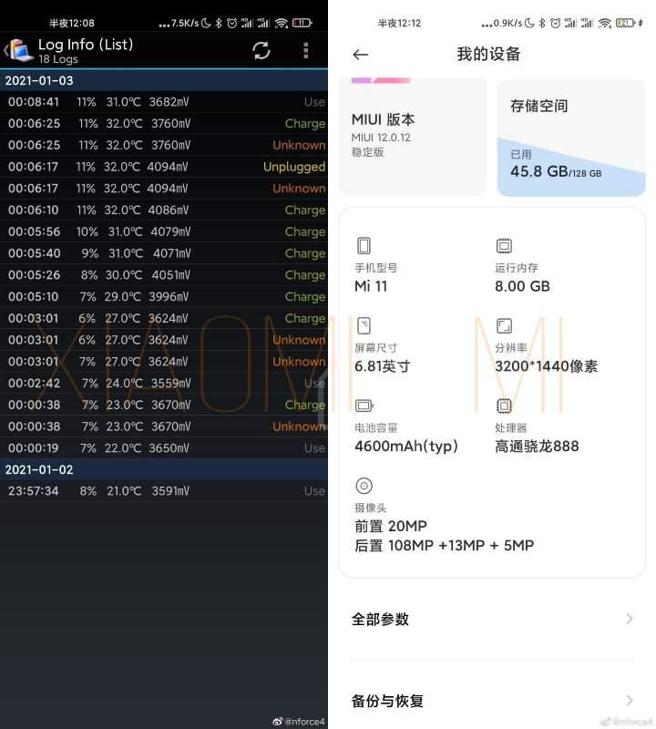 Xiaomi Mi 11 cargador GaN