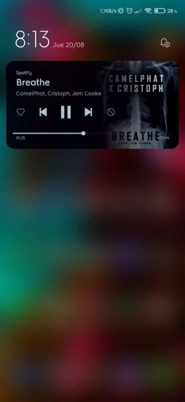 Spotify MIUI 12 Xiaomi Mi 10 Pro