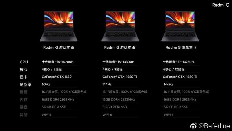 Xiaomi Redmi G versiones