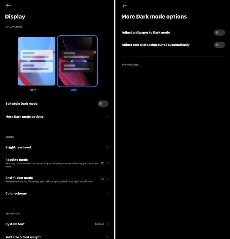 Modo oscuro MIUI 12 Xiaomi