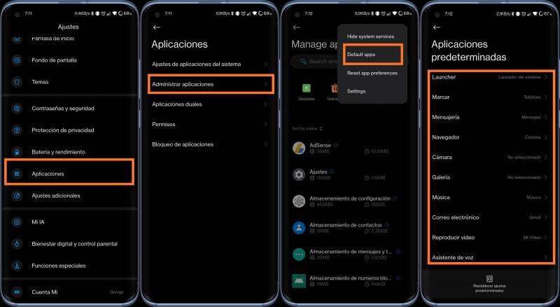 Apps por defecto Xiaomi
