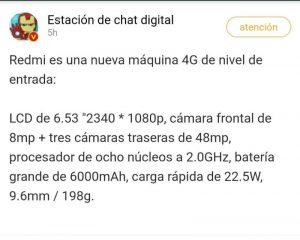 Xiaomi Redmi 6.000mAh