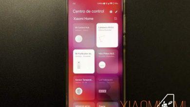 Centro de Control Xiaomi Mi Home accesos directos