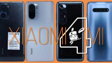 Xiaomi modelos filtrados: Mi 10, Redmi K40 y K40 Pro y Black Shark 4