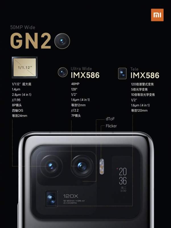 Especificaciones cámara Xiaomi Mi 11 Ultra