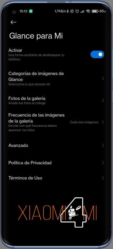 Glance Xiaomi